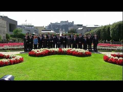 EU summit in Salzburg: Family photo
