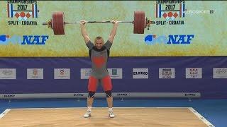 2017 European Weightlifting Championships Men 77 kg \ Тяжелая атлетика Чемпионат Европы [1080]