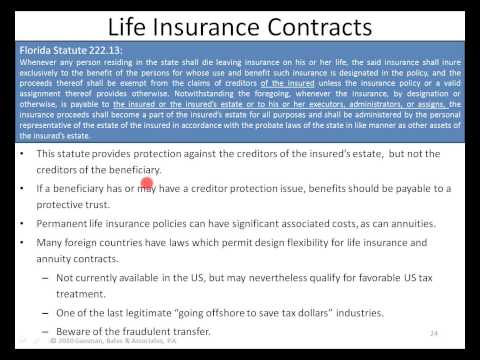 Alan Gassman on Creditor Protection for the Single Physician
