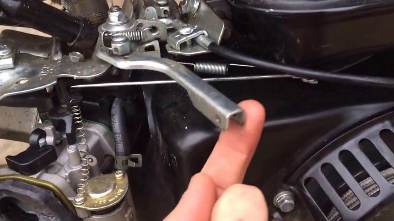 predator 212cc mini bike throttle embly - YouTube