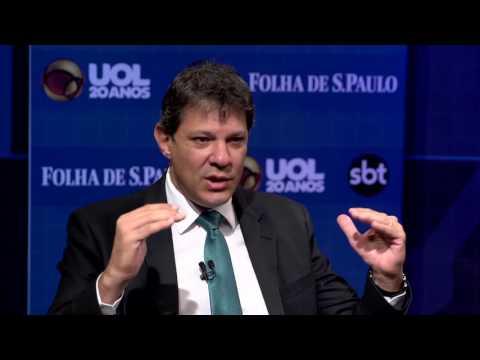 SBT, UOL e Folha sabatinam o prefeito de São Paulo Fernando Haddad