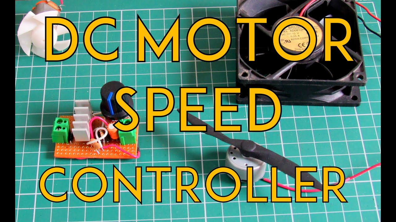 How to make an universal dc motor speed controller youtube for Lm317 motor speed control