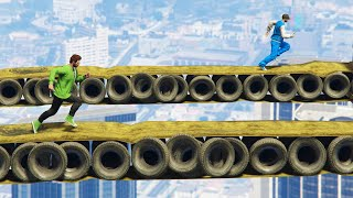 MILE HIGH TIGHTROPE BATTLE! (GTA 5 Funny Moments)