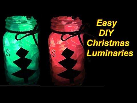 Easy DIY Mason Jar Christmas Silhouette Lanterns