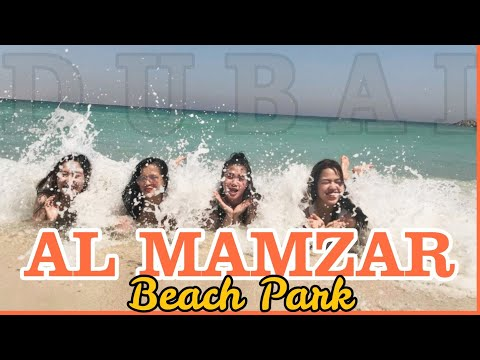 Al Mamzar Beach Park Dubai Swimming with Friends / Wow Sexy 😍😍😍
