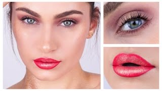 Christmas 2016 Festive Gold + Red Ombre Makeup Look | Ruby Golani