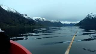 Boating in sognefjord