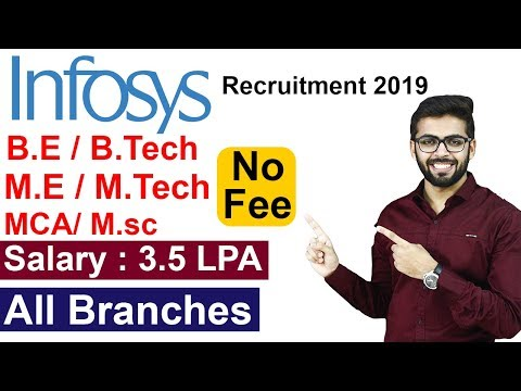 INFOSYS Recruitment 2019 | Off Campus Drive | Private Company JOB | BE/Btech/ME/Mtech | NO FEE