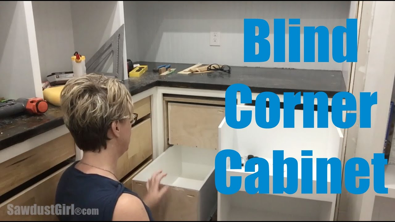 blind corner cabinet youtube. Black Bedroom Furniture Sets. Home Design Ideas