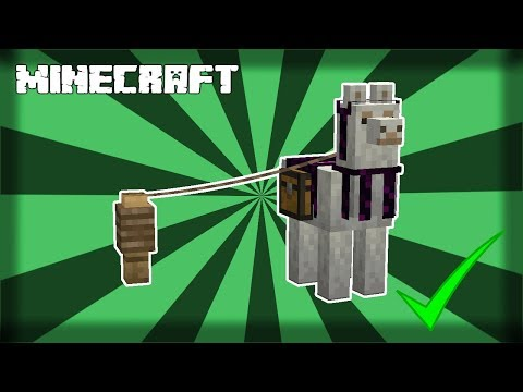 HOW TO TAME A LLAMA IN MINECRAFT! 1.15