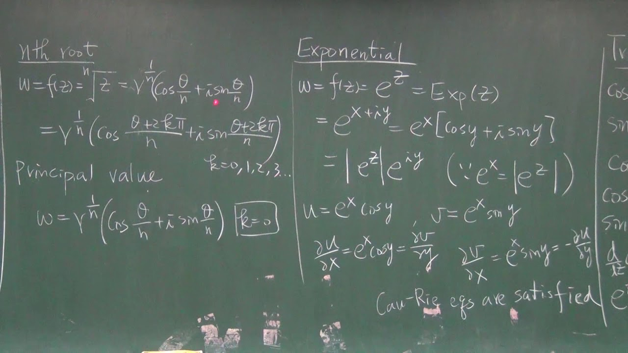 NCUOCW-工程數學IV-1.4 The Element Complex Functions 中文版 - YouTube