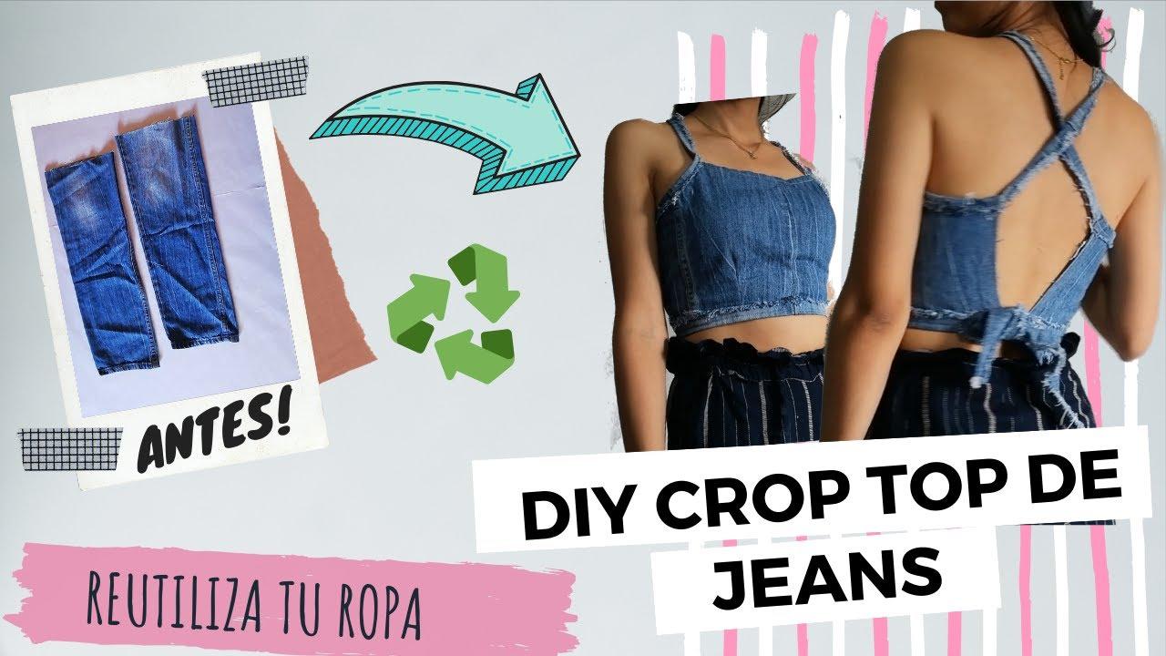 Transformar Un Jean En Blusa Como Hacer Un Crop Top Con Un Pantalon De Jean Youtube