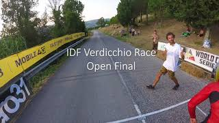 Consi and Open Finals Downhill Skateboarding at IDF Verdicchio Race 2018 - Drone and GoPro footage