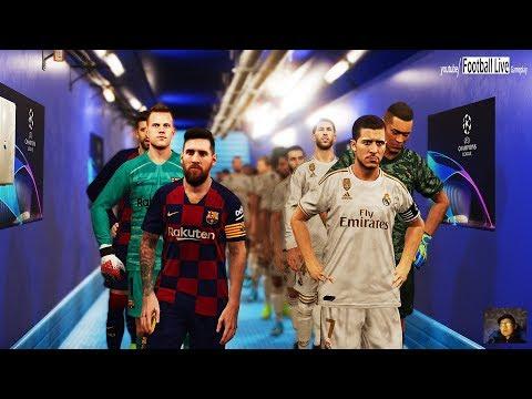 PES 2020 | El Clasico | Real Madrid VS FC Barcelona | Messi Vs Hazard | UEFA Champions League - UCL