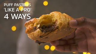 Puff Pastries 'Like A Pro' 4 Ways