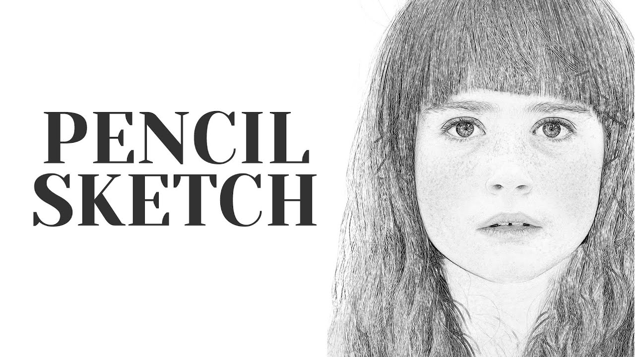 Free Drawing Photoshop Action Pencil Sketch