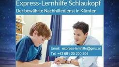 Nachhilfe in Mathematik Sprachen Rechnungswesen BWL für Klagenfurt Villach Kärnten