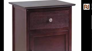 Winsome Night Stand/ Accent Table With Drawer And Cabinet For Storage 94215