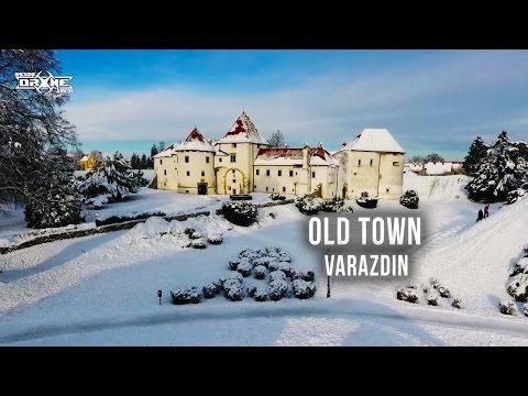 Old Town - Stari Grad - Varazdin - Snow Castle - Drone Video