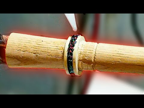 Ring Making - Making A Bentwood Ring With Anodized Titanium (Opal Inlay)