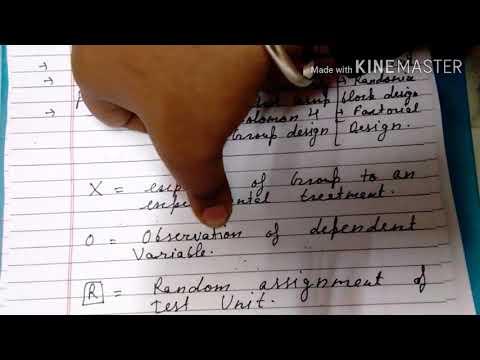 Research design:- experimental research design in hindi