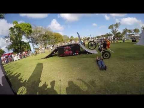 Trials Bikes at the Formula E event in Miami, FL
