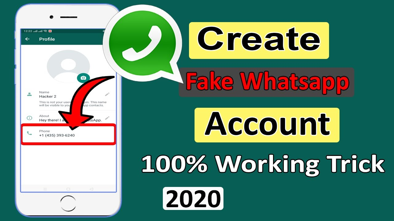 Number verification fake whatsapp Receive SMS