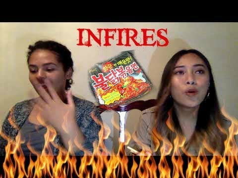 KOREAN FIRE NOODLE CHALLENGE + EMBARRASSING STORY TIME | TONI ROSE, DANNI CASSI