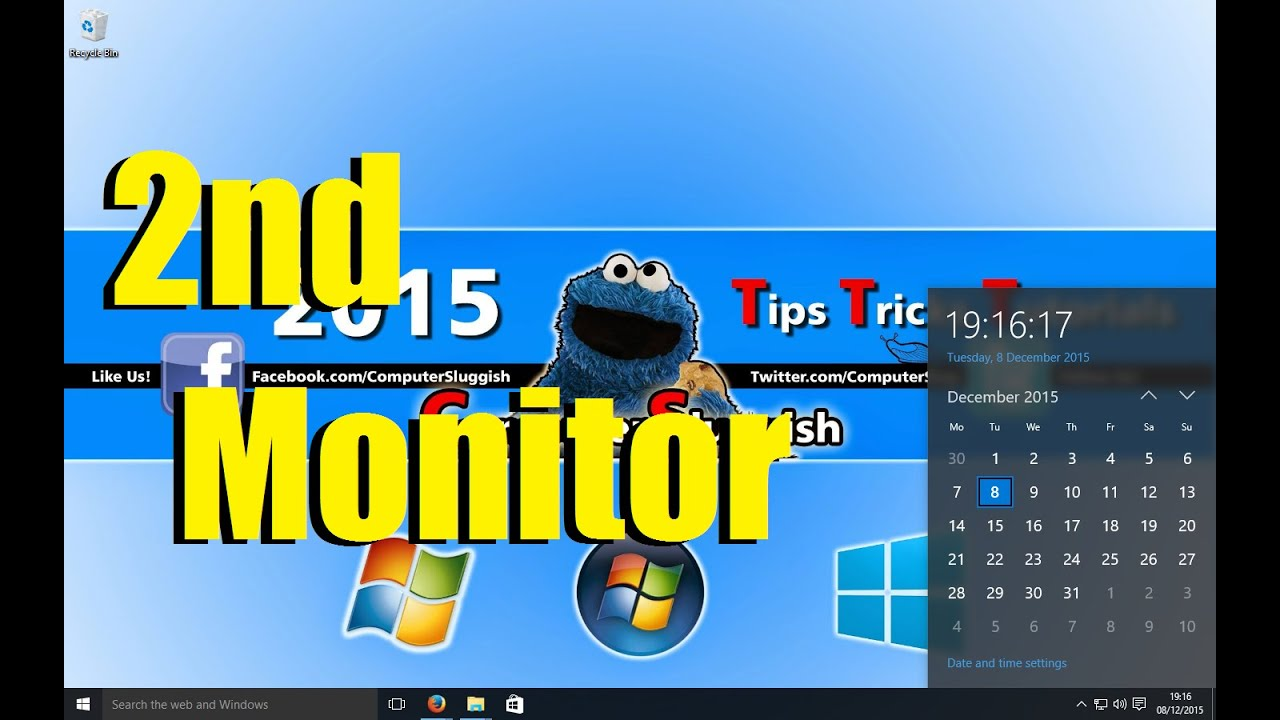 how to add a second monitor windows 10