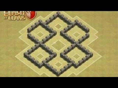 TH 4 Best War Base (Townhall 4)   Speed Build  | Clash of Clans | Full HD |