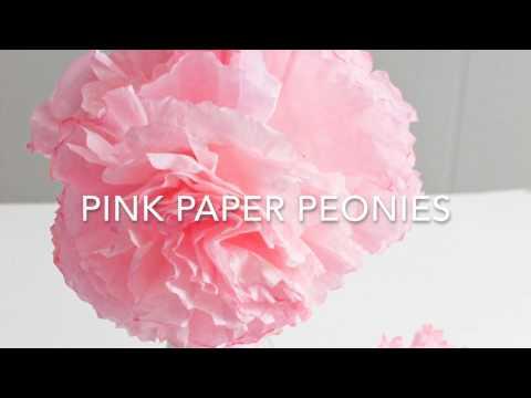 Pretty Pink Paper Peonies (Paper Flower Tutorial
