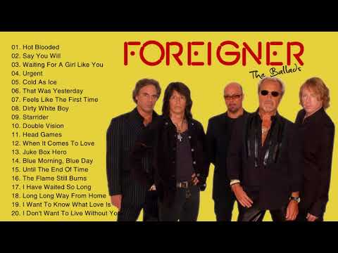 Foreigner Greatest Hits 2019 - Complete Greatest Hits Full Album of Foreigner
