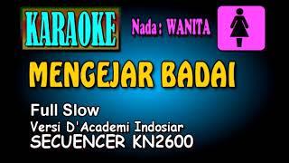 Download MENGEJAR BADAI Versi Slow [Karaoke nada Wanita]