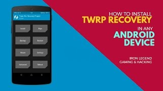 How To Install TWRP Recovery In Any Android Device