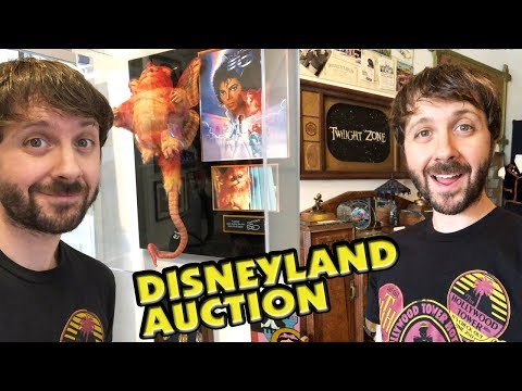 DISNEYLAND AUCTION! Tower of Terror Props & More! Van Eaton Galleries - Vlogmas Day 10