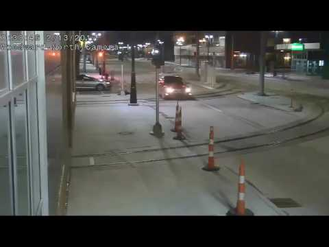 Video shows suspect vehicle wanted for vandalizing QLINE streetcar