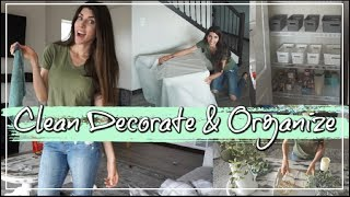 Clean, Decorate & Organize With Me | Clean With Me | Momma From Scratch