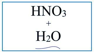 (Nitrik asit ve Su)MADDELERİ + H2O