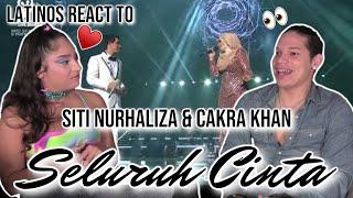 Latinos react to Siti Nurhaliza & Cakra Khan singing Seluruh Cinta LIVE 😲👼