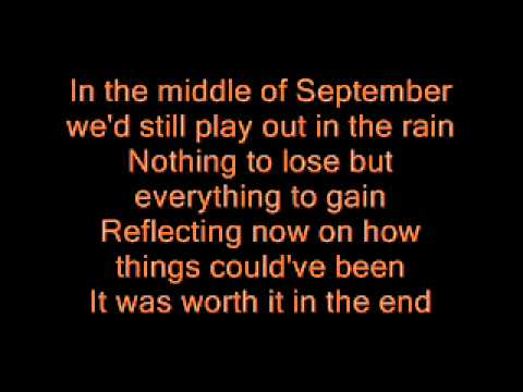 Chris Daughtry - September [ with lyrics ]