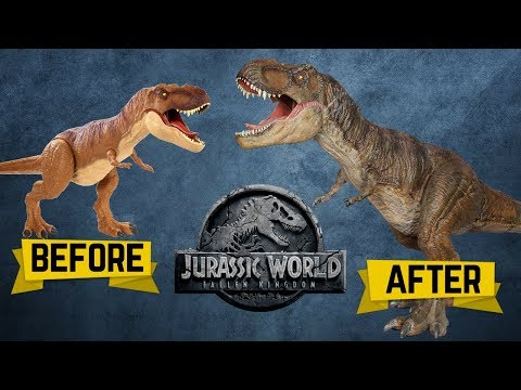 """Jurassic World: Fallen Kingdom"" Colossal T-Rex Makeover- Chris' Custom Collectables!"