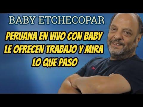 INSÓLITO, BABY ETCHECOPAR OFRECE TRABAJO AL AIRE A UNA PERUANA Y MIRA LO QUE PASO