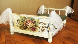 Diy Upcycle Doll Bed To Dog Or Cat Pet Bed Decoupage