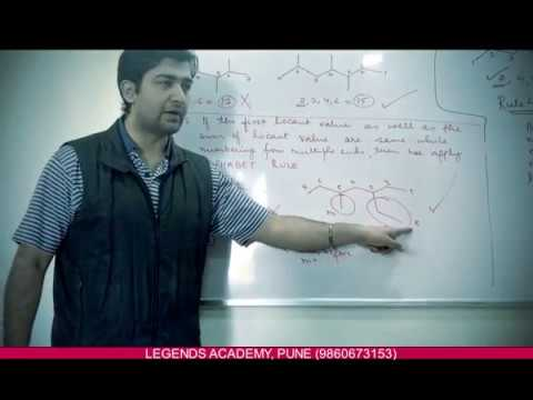 Organic Chemistry - Lecture 3 (IUPAC Nomenclature-Part 1) - Nishant Srivastava Sir