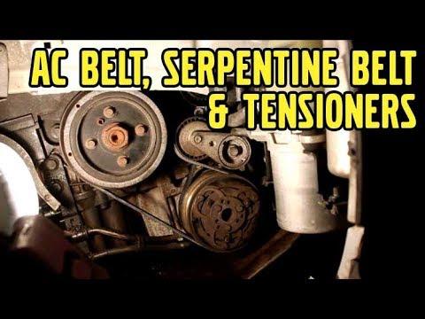 Volvo V50, AC Belt, Serpentine Belt, and Tensioner Replacement