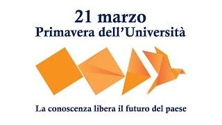 Anticipazione 21 marzo - Primavera dell'Università