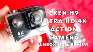 UNBOXING & REVIEW EKEN H9 ULTRA HD 4K SPORTS ACTION CAMERA SJCAM - ALIEXPRESS & GEARBEST