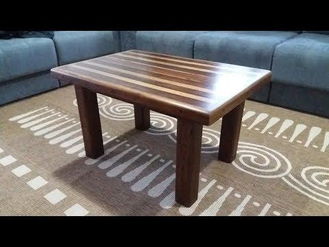 Como fazer mesa de centro com madeira de demolição e reciclada