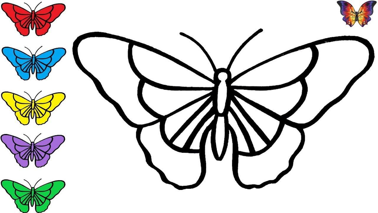 Как нарисовать БАБОЧКУ / раскраска КРАСИВАЯ БАБОЧКА для ...