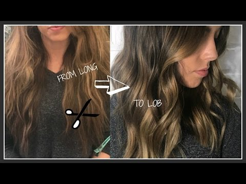 CUTTING A LOB HAIRCUT TUTORIAL